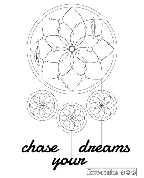 Dream Catcher Coloring Page for Adults