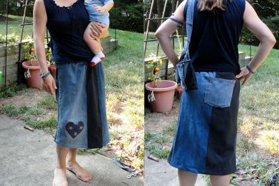 How to Make an Easy Patchwork Denim Skirt