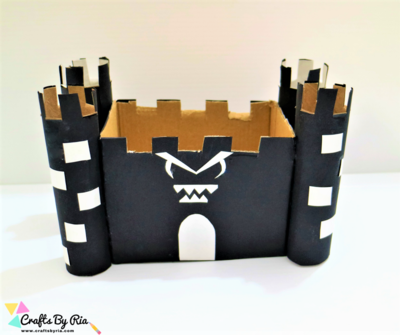 DIY Halloween Haunted House Craft for kids