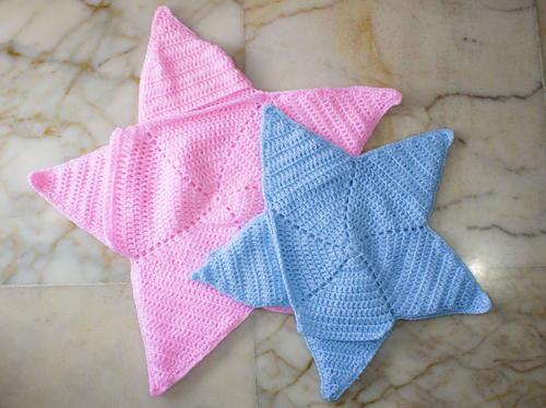 photo regarding Printable Baby Nest Pattern known as Boy or girl Star Blanket Co
