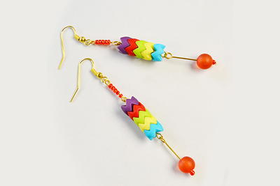 Colorful Mixed Bead Earrings