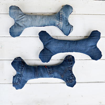 Denim Dog Toys