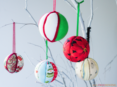 Simple No-Sew Quilted Ornaments with Printable Templates