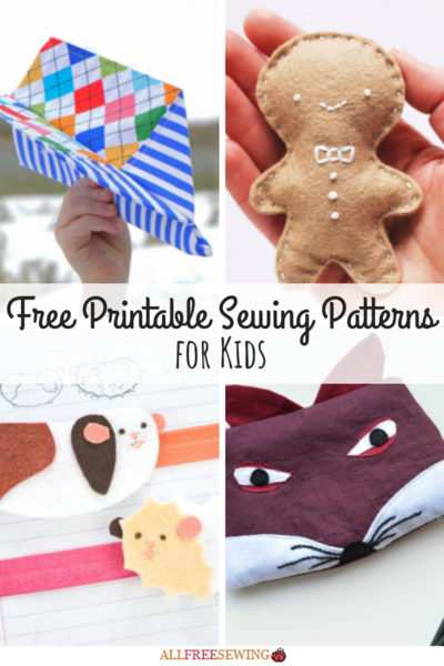 45 Free Printable Sewing Patterns for Kids