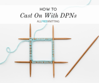 How to Cast On With DPNs