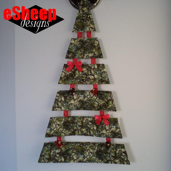 Hanging Fabric Christmas Tree