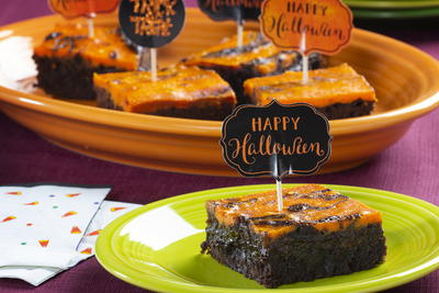 Halloween Scream Cheese Brownies