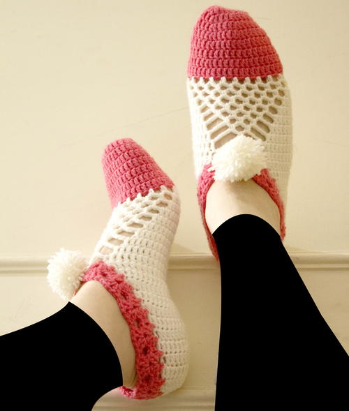 Cluster crochet slippers Free Crochet Pattern