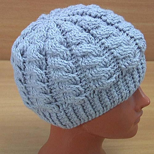 How to Crochet Cable Hat Tutorial