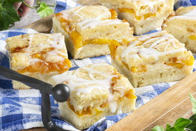 Peaches and Cream Squares