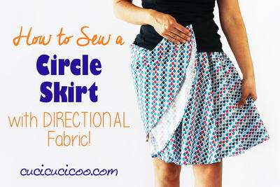 Sew a Circle Skirt from Directional Fabric with pattern
