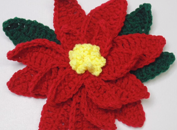 How to Crochet a Poinsettia