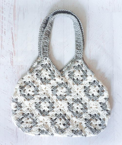 Granny Square Knitting Bag Crochet Pattern
