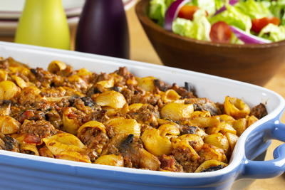 Pasta and Ground Beef Casserole