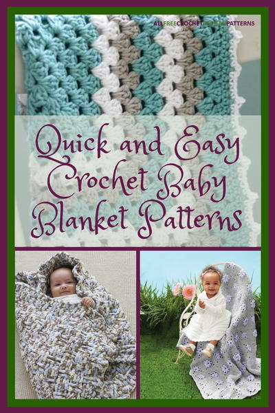 847071c89843 40+ Quick and Easy Crochet Baby Blanket Patterns ...