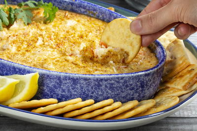 Bettys Famous Baked Crab Dip