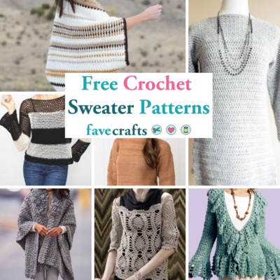 34 Free Crochet Sweater Patterns Favecrafts Com