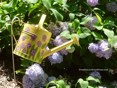 Watering Can Garden Art Project