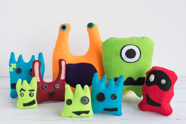 Kid-Friendly Felt Monsters