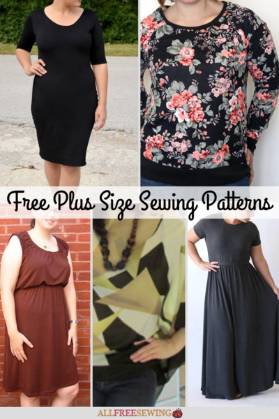 379620654b64 23 Fabulous and Free Plus Size Sewing Patterns