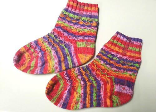 Clown Sock Knitting Pattern
