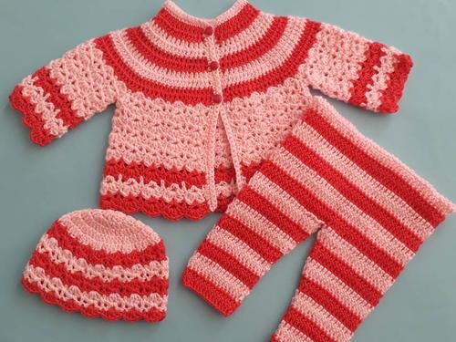 Crochet Round Neck Baby Jacket Sweater | AllFreeCrochet com