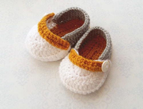 Simple Baby Boy Booties