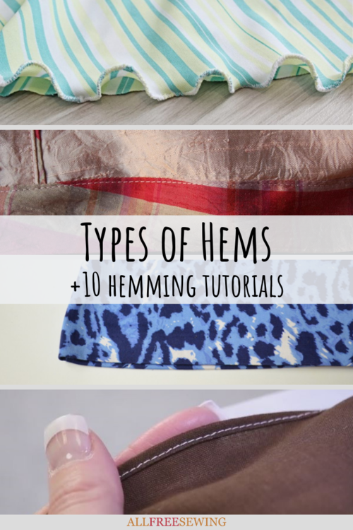 Types of Hems  10 Hemming Tutorials