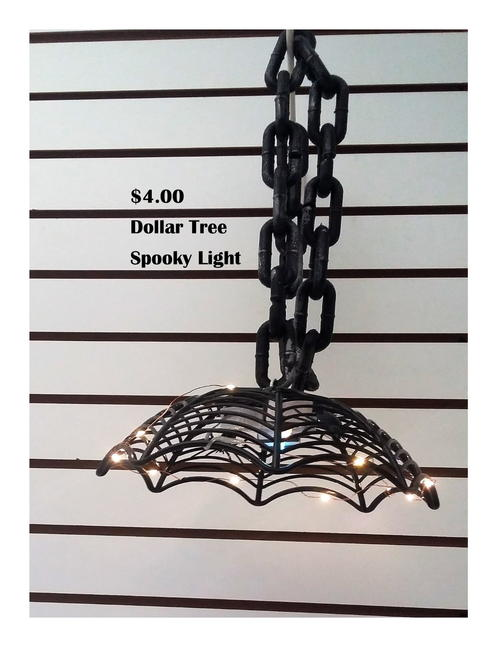$4 Dollar Store Hanging Halloween Lamp