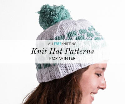 cce78424c477a 66+ Knit Hat Patterns for Winter