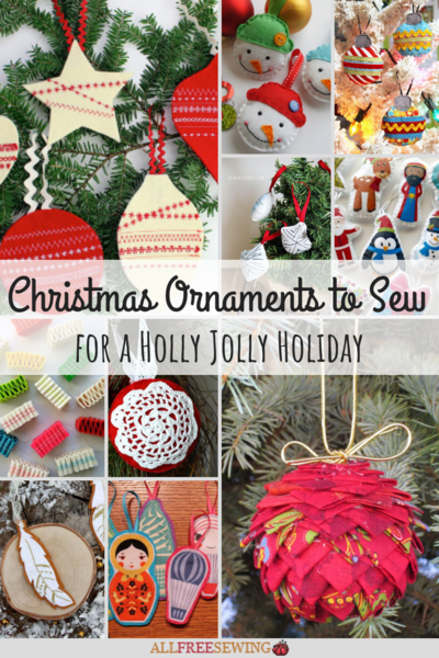 29 Christmas Ornaments to Sew for a Holly Jolly Holiday