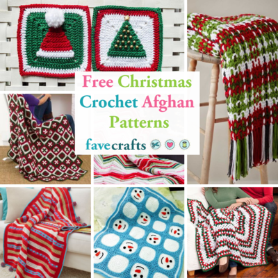 ee0960b5f Find our favorite free Christmas crochet afghan patterns in this  collection! Make a variety of beautiful blankets and granny squares for the  holidays.