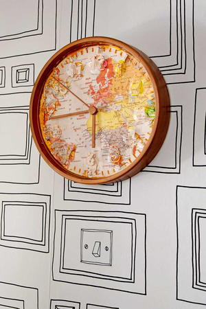 Make your Own World Map Clock