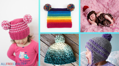 Crochet Pom Pom Hat Guide