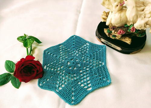 Floral Granny Hexagon Motif