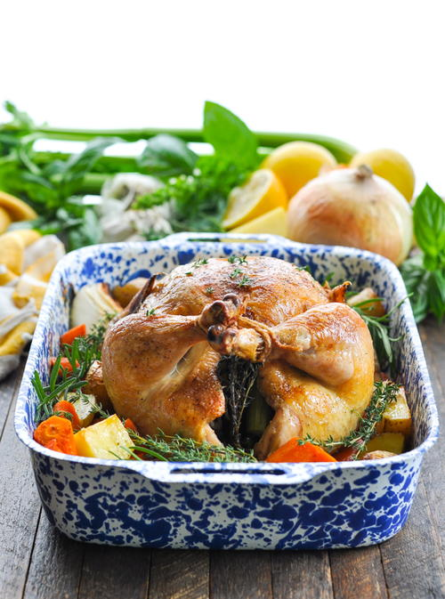 Crispy Roast Chicken with Vegetables