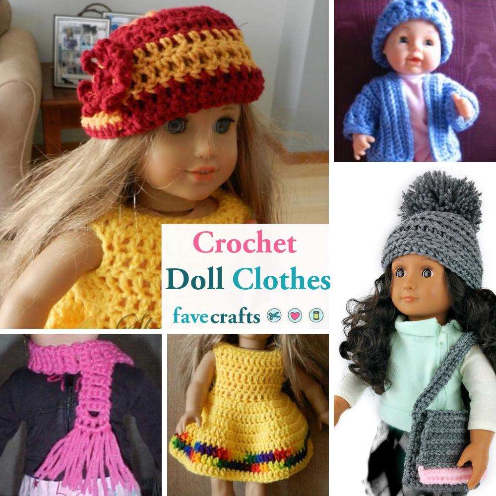 12+ Free Crochet Doll Clothes Patterns   FaveCrafts.com