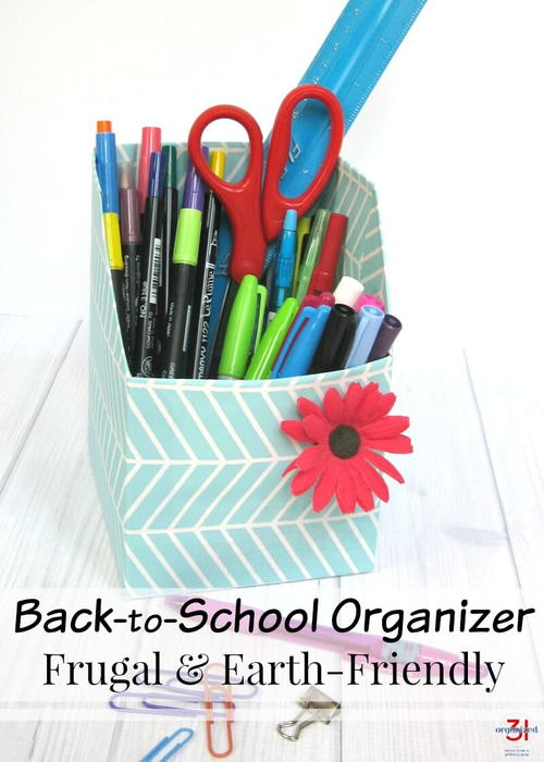 Back-to-School Organizer for Desk Supplies