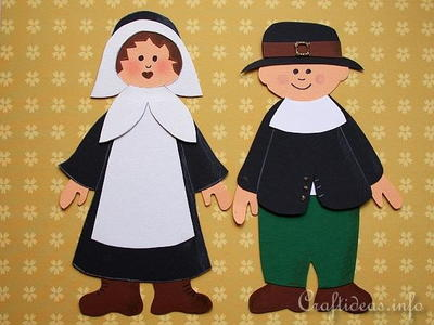 Thanksgiving Pilgrim Couple