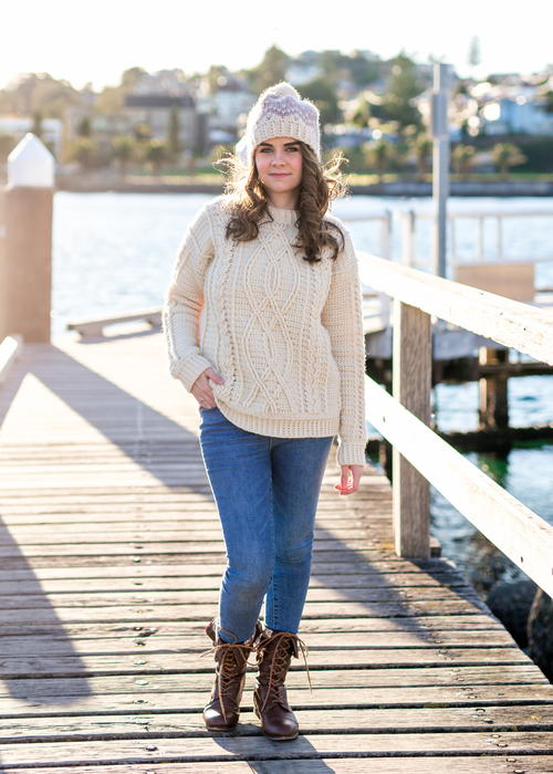 Meara Fisherman Sweater