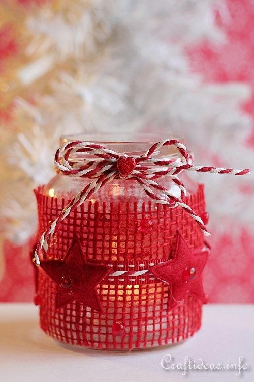 Glass Jar Tea Light Luminary