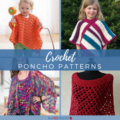 65 Crochet Poncho Patterns Allfreecrochetcom