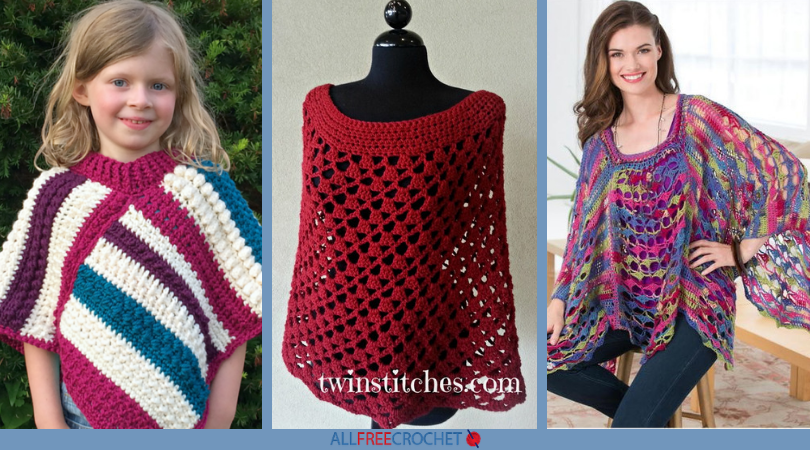 52849159b5541 65+ Crochet Poncho Patterns | AllFreeCrochet.com