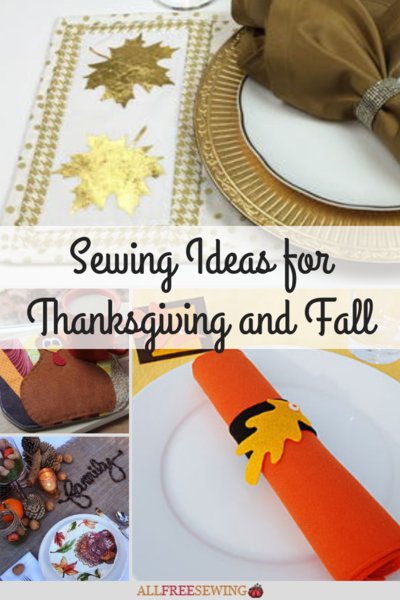 30 Sewing Ideas for Thanksgiving and Fall