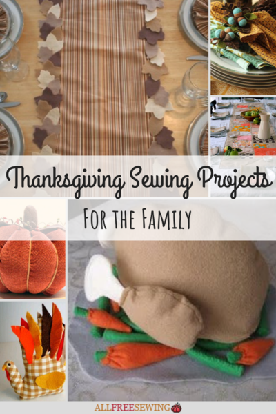 Thanksgiving Sewing Projects for the Family