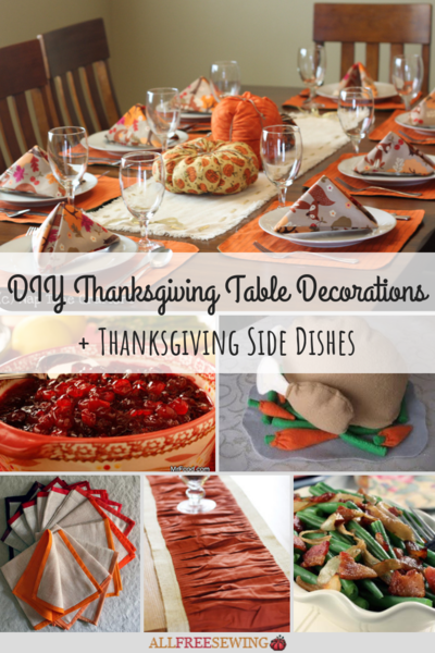 28 DIY Thanksgiving Table Decorations + Thanksgiving Side Dishes