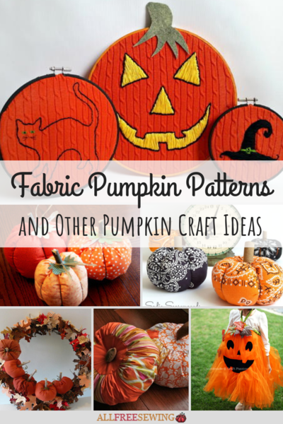 Fabric Pumpkin Patterns  Other Pumpkin Craft Ideas