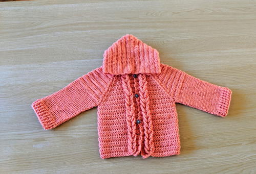 b8149078f Crochet Hooded Baby Cardigan