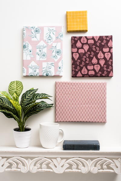 How to Frame Fabric on Canvas