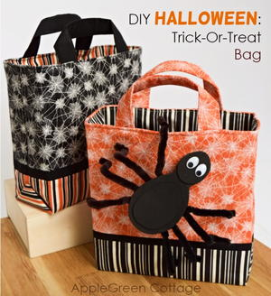 Diy Halloween Trick Or Treat Bags.Halloween Trick Or Treat Bag Diyideacenter Com